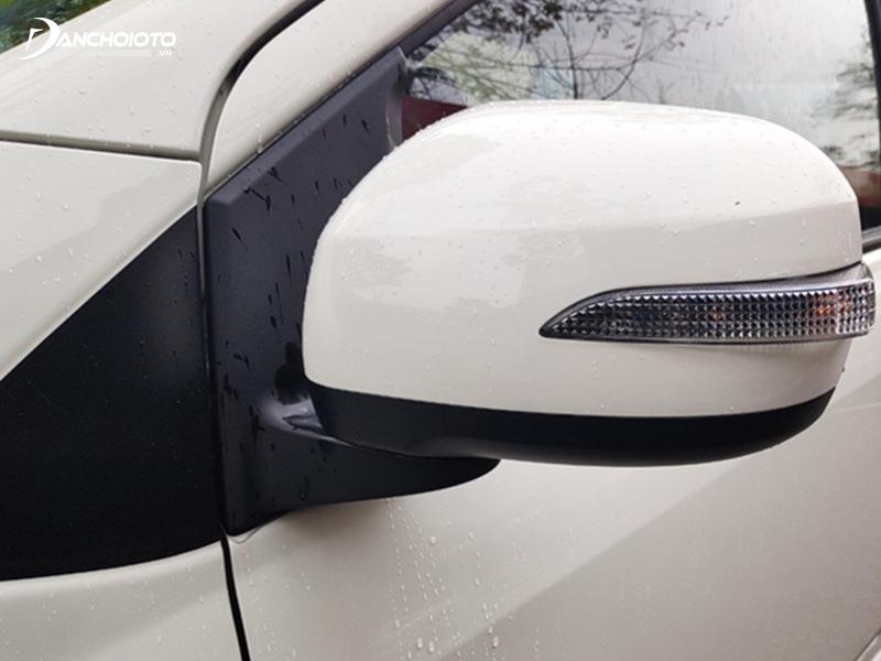 Gương chiếu hậu Toyota Wigo 2020 không có chức năng gập điện