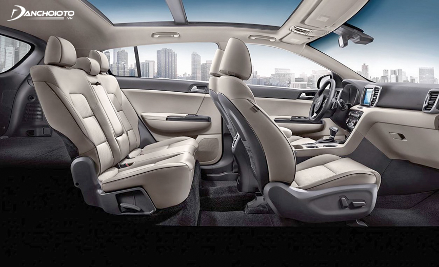 Interior space of Kia Sportage 2018