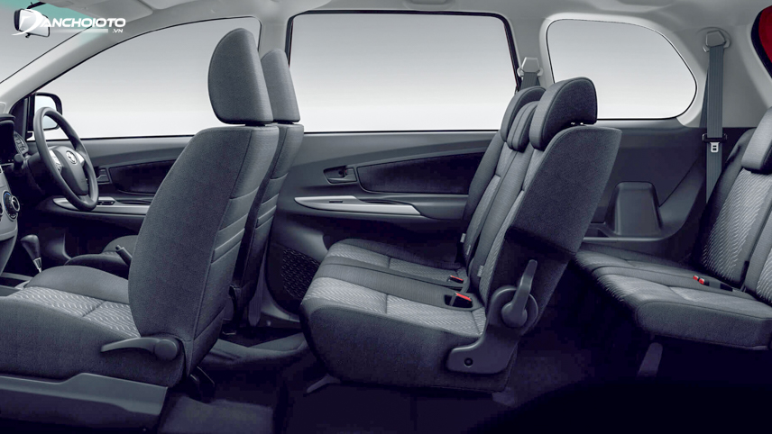 Interior space on the Toyota Avanza 2018
