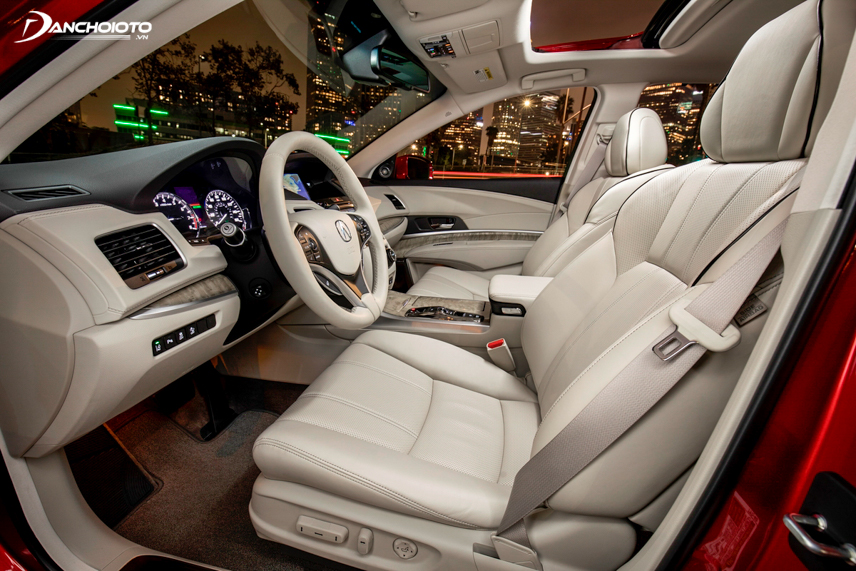 Interior space on the car
