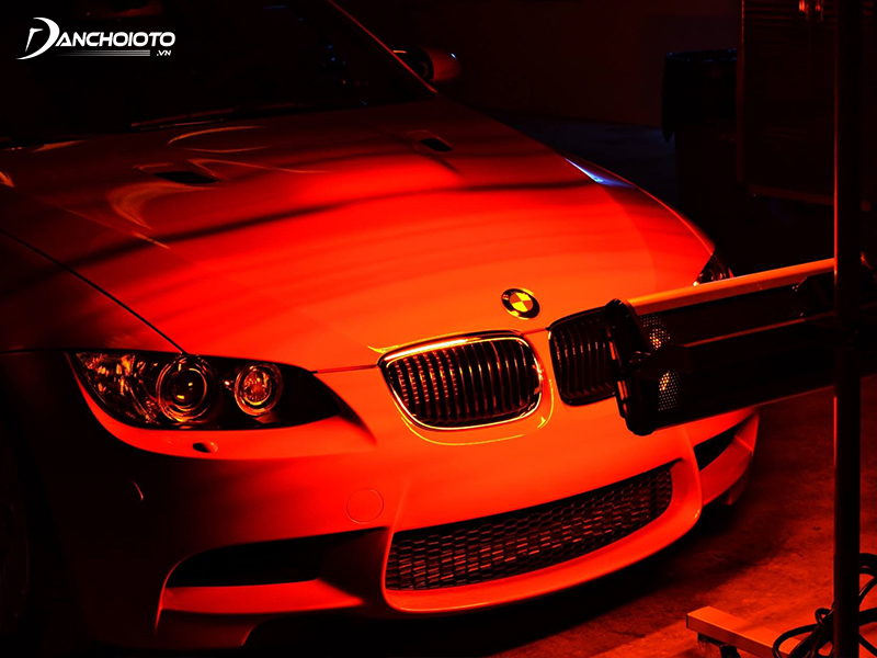 Ceramic coatings are usually quickly dried by infrared paint drying lamps