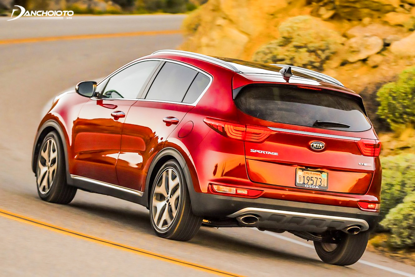 The rear end of the Kia Sportage 2018