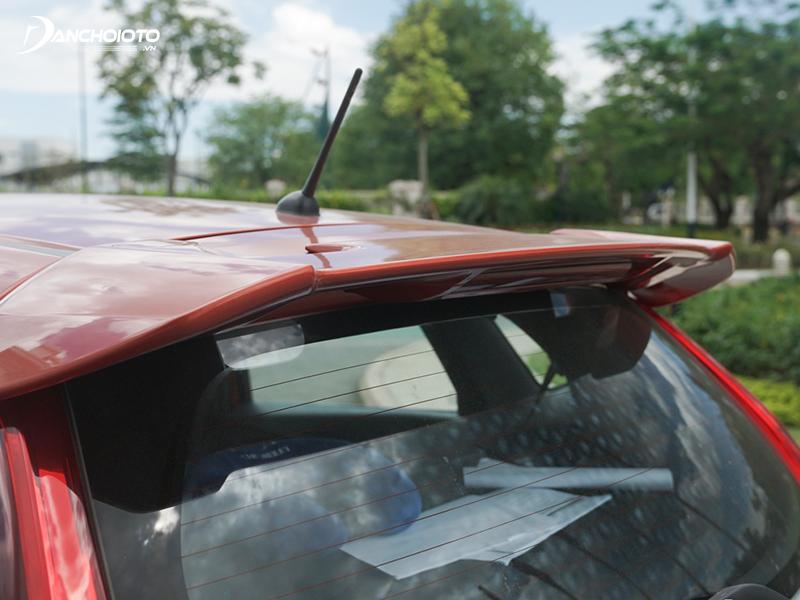 The Honda Jazz RS version has a rear spoiler