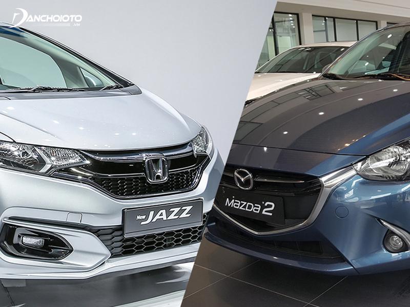 So sánh Honda Jazz và Mazda 2, Jazz có lợi thế về vận hành, trong khi Mazda 2 có giá bán rẻ hơn
