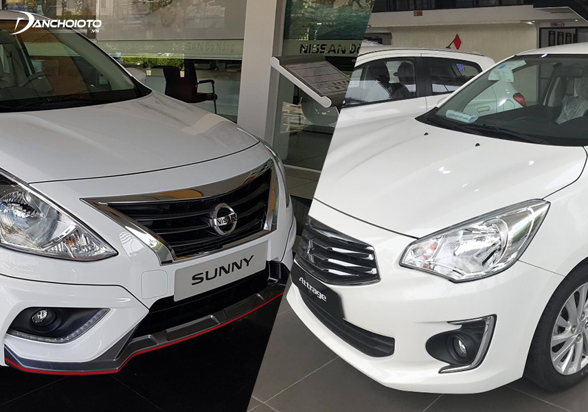 Comparing Nissan Sunny and Attrage, Sunny is more powerful when using 1.5L engine