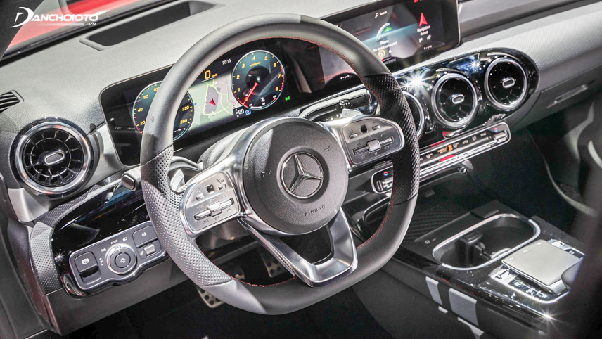 Beautifully designed steering wheel on Mercedes-Benz A-Class 2019