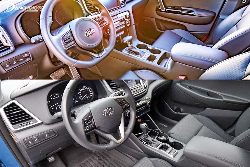 Sportage and Tucson 2016 interior shows the harmony with the exterior