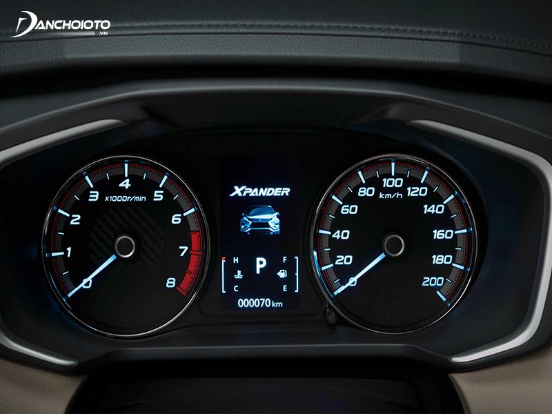 """Cụm đồng hồ Mitsubishi Xpander có 1 màn hình LCD 4.2"""""""