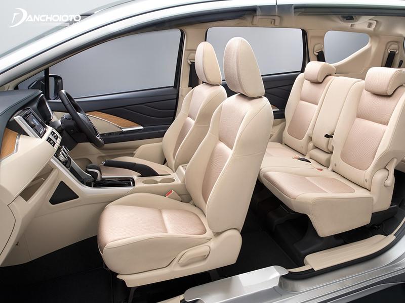 Mitsubishi Xpander rộng rãi ở cả 3 hàng ghế