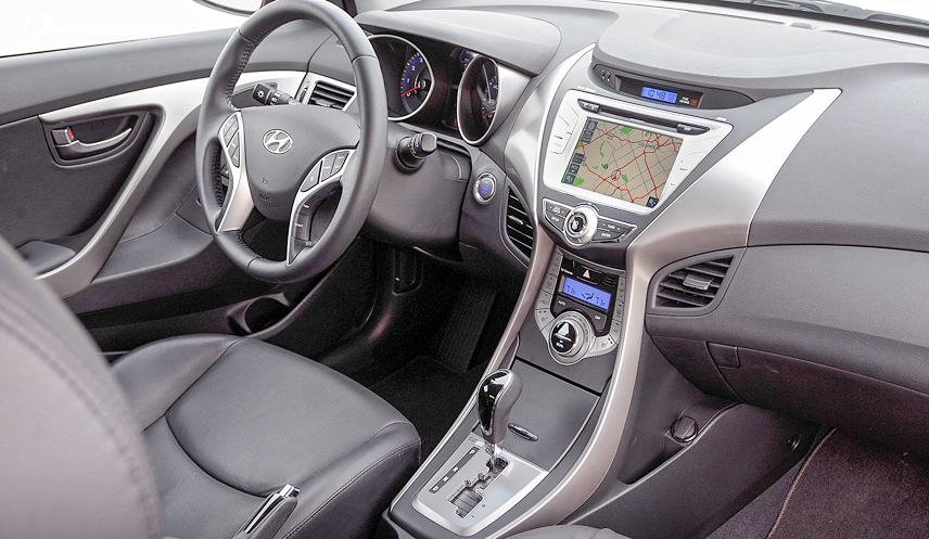 The interior of the old Hyundai Elantra 2014 is relatively spacious and comfortable
