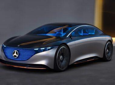 Mercedes-Benz Vision EQS lộ diện gây sốc