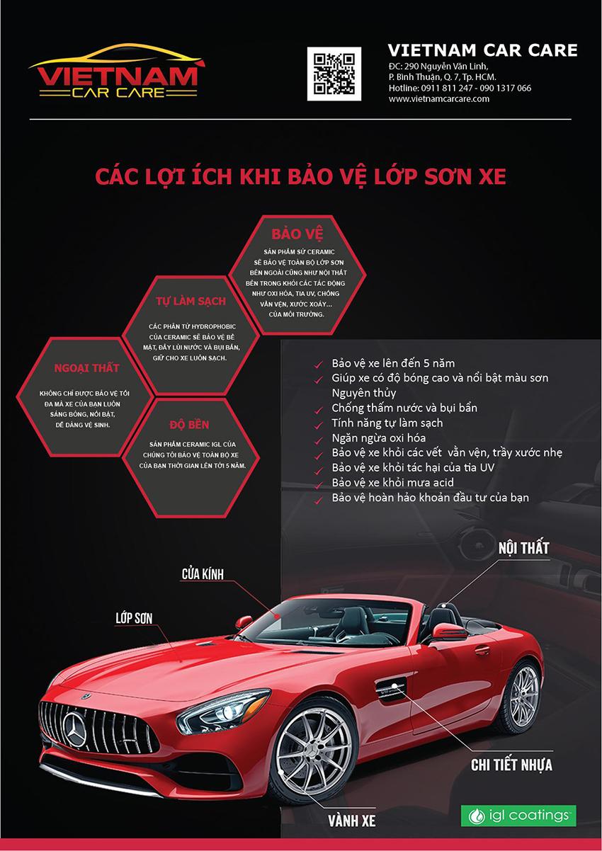 Phủ ceramic ô tô mang đến nhiều lợi ích bảo vệ xe