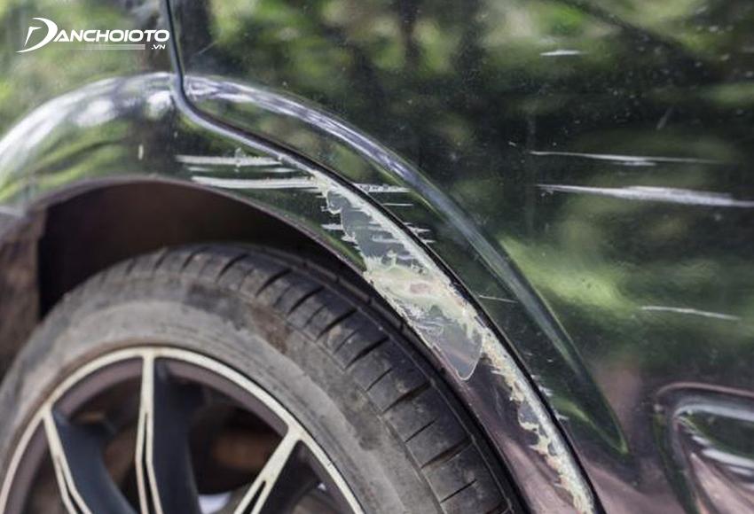 Sơn xe ô tô sẽ giúp xử lý những vết trầy xước