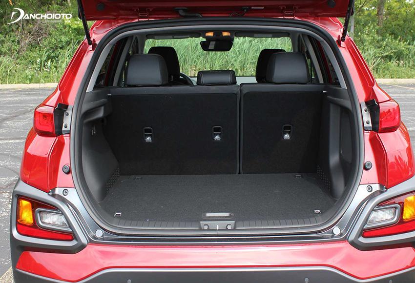 Khoang hành lý Hyundai Kona 2020 hơi nhỏ