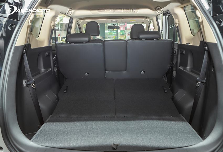 Khoang hành lý Mitsubishi Xpander 2020 có thể mở rộng linh hoạt