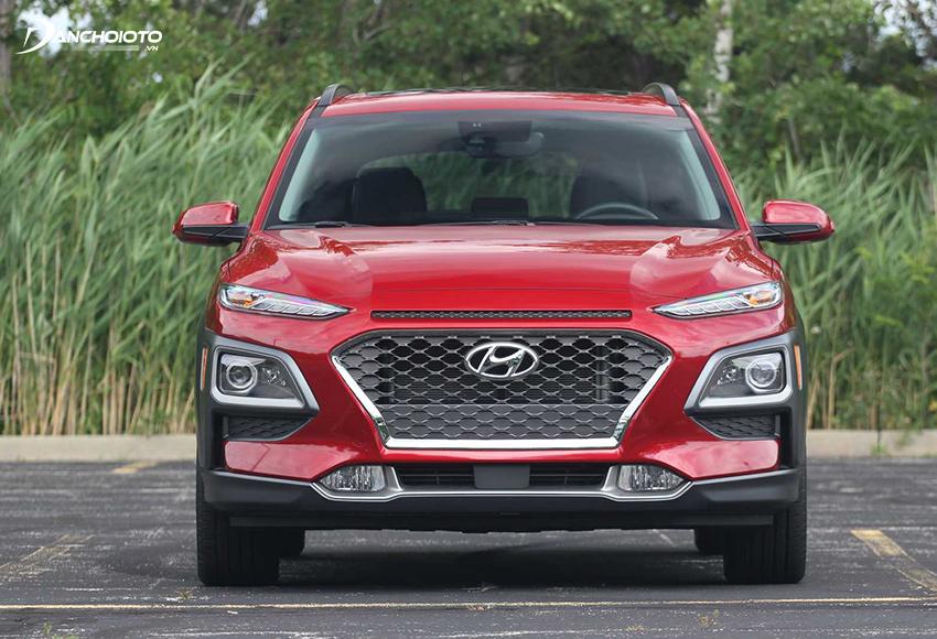 Lưới tản nhiệt Hyundai Kona 2020 được thiết kế theo phong cách thác nước Cascading Grill