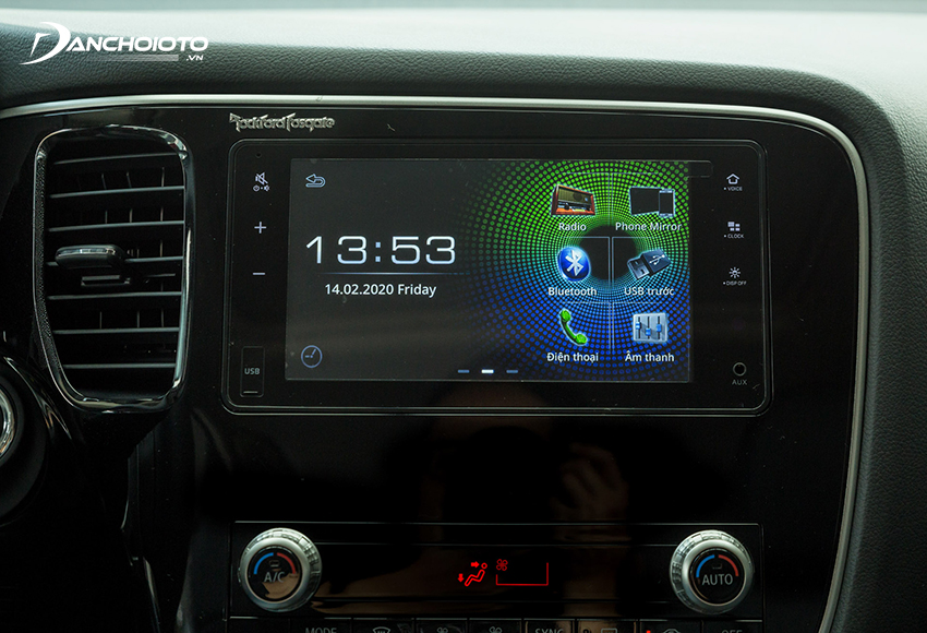 Mitsubishi Outlander 2020 facelift trang bị màn hình cảm ứng 7 inch thay cho màn hình 6.75