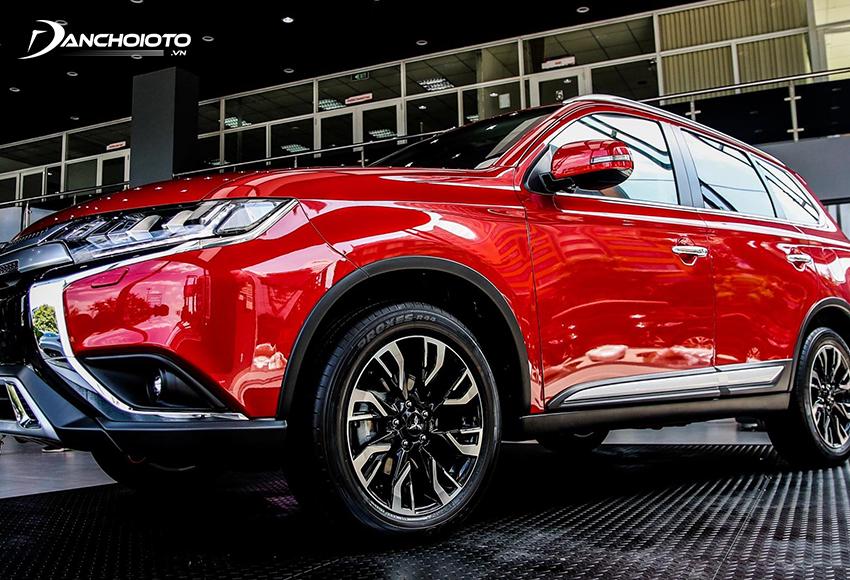 Mitsubishi Outlander 2020 trang bị lazang 18 inch phay bóng thiết kế mới bắt mắt