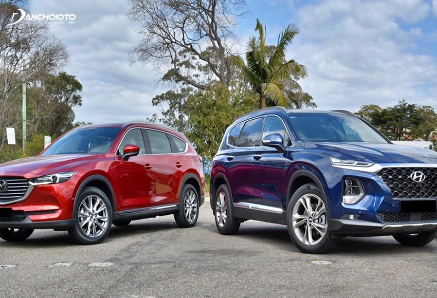 So sánh CX8 và SantaFe, giá xe SantaFe thấp hơn trong khi trang bị khá tương đương