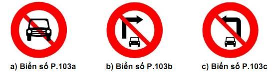 Các biển báo giao thông đường bộ Việt Nam mới nhất