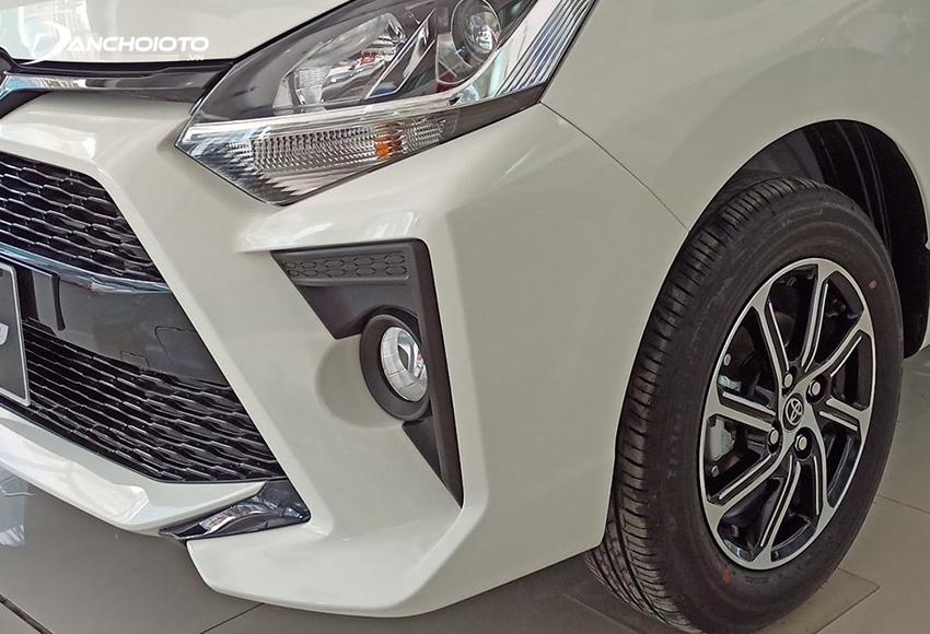 Cụm đèn trước Toyota Wigo 2020 giữ nguyên, vẫn dùng đèn Halogen