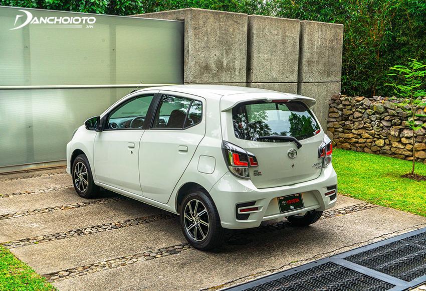 Đuôi xe Toyota Wigo 2020 nổi bật với cụm đèn hậu LED sắc nét hơn