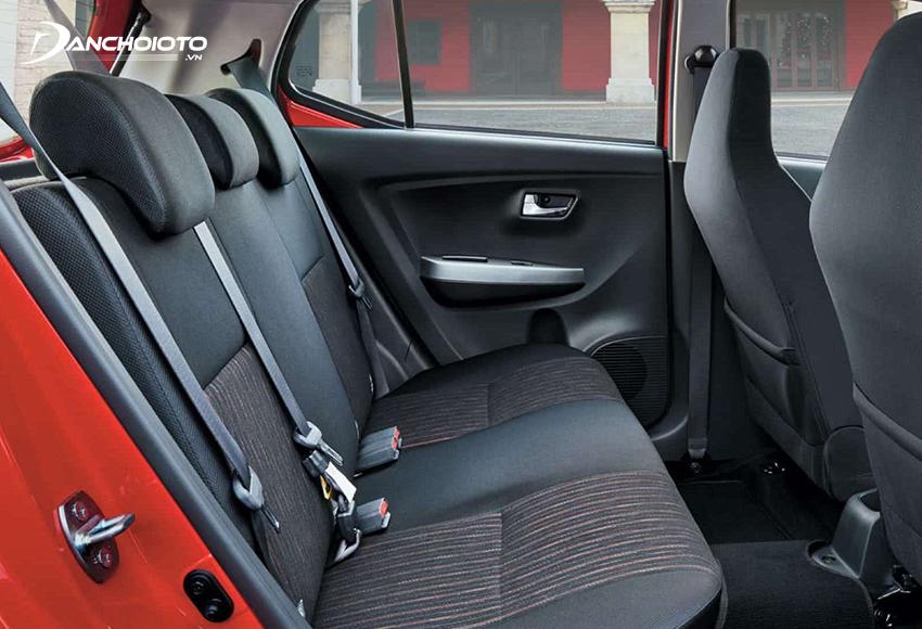 Hàng ghế sau Toyota Wigo rộng rãi bậc nhất phân khúc