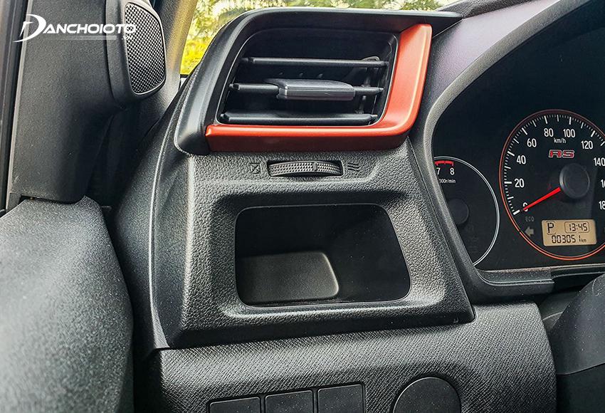 Honda Brio RS 2020 có thêm viền màu cam trẻ trung hơn thay vì viền bạc