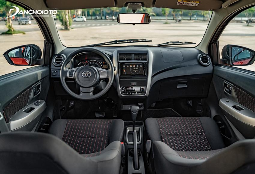 Khu vực bảng taplo Toyota Wigo 2020 có sự đổi mới ở cụm điều khiển điều hoà