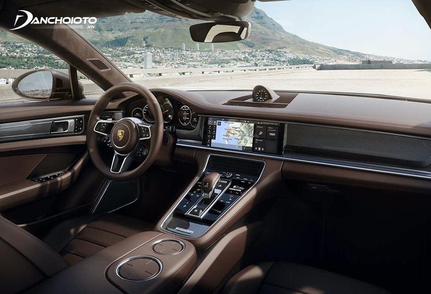 Nội thất Porsche Panamera có nhiều thay đổi mới so với thế hệ trước đây