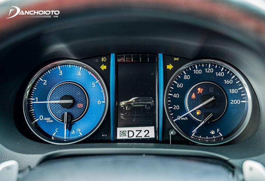 Toyota Fortuner 2020 dùng màn hình hiển thị đa thông tin TFT 4.2 inch