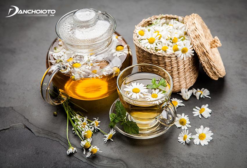 Trước khi khởi hành, bạn có thể uống trà hoa cúc hoặc chuẩn bị sẵn mang theo uống khi cần