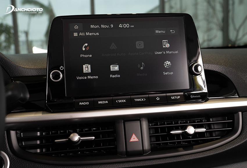 Kia Morning 2021 được nâng cấp sử dụng màn hình cảm ứng 8 inch