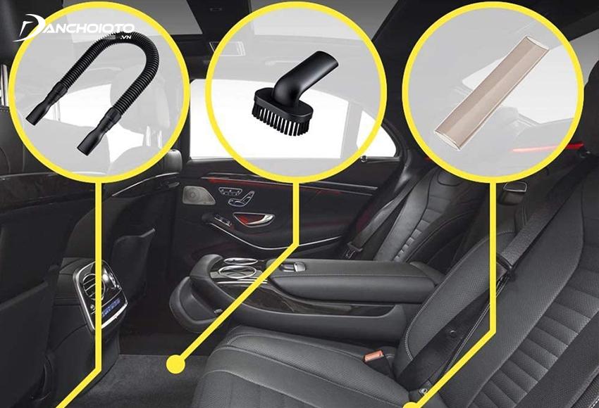 Máy hút bụi ô tô thường có nhiều loại đầu hút khác nhau