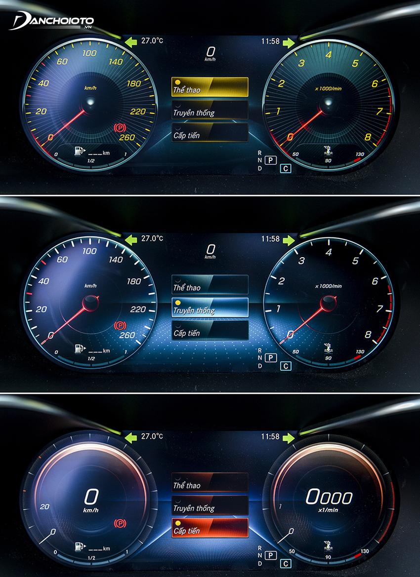 Cụm đồng hồ C300 AMG sử dụng toàn bộ là màn hình 12.3 inch với 3 giao diện tuỳ chọn Mercedes C300 AMG được trang bị hệ thống khoá xe và khởi động nút bấm thông minh KEYLESS-GO,