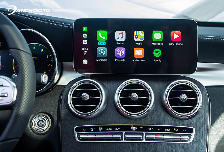 Mercedes C300 AMG 2020 trang bị màn hình 10.2 inch, âm thanh vòm cao cấp Burmester 13 loa