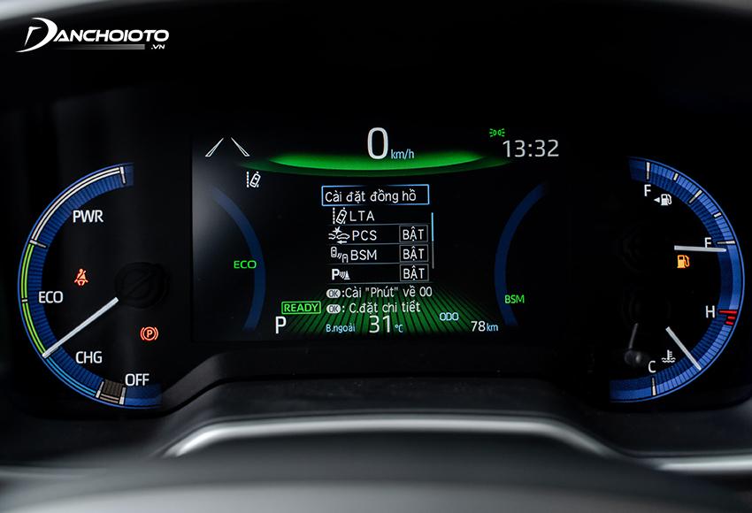 Toyota Corolla Cross 2020.8HV dùng màn hình hiển thị đa thông tin kích thước lớn 7 inch