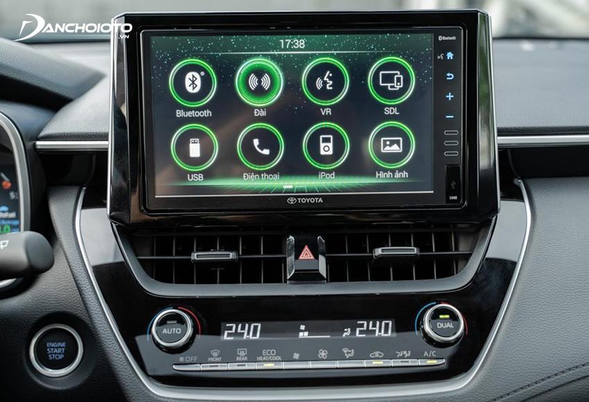 Toyota Corolla Cross 2020 được trang bị màn hình cảm ứng 9 inch ở 2 bản 1.8V và 1.8HV, 7 inch ở bản 1.8G