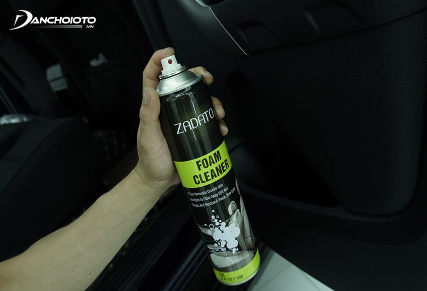 ZADATO – Foam Cleaner là chai xịt vệ sinh nội thất ô tô tạo bọt đa năng, hiệu quả tẩy rửa cao, có thể dùng ở mọi bề mặt chất liệu