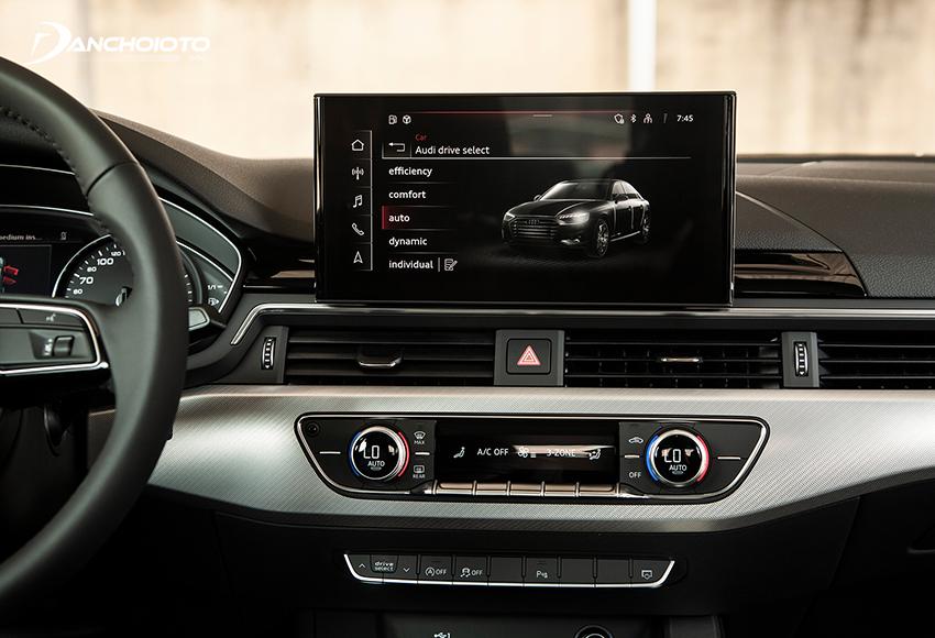 Audi A4 2020 có sự nâng cấp mới sử dụng màn hình cảm ứng trung tâm cỡ lớn 10.1 inch đi cùng hệ thống MMI mới