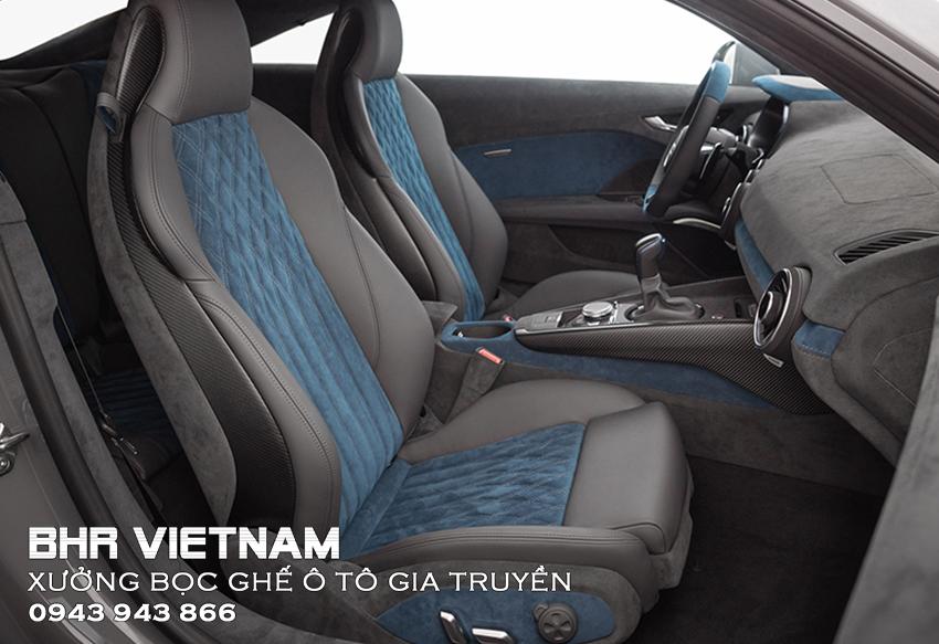 Bọc ghế ô tô da Alcantara