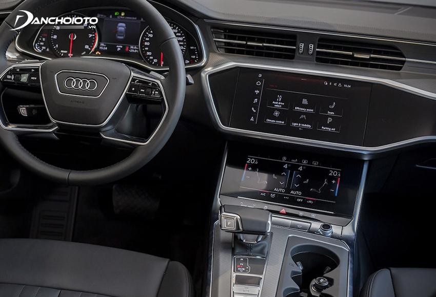 Cần số Audi A6 2020 bọc da thể thao