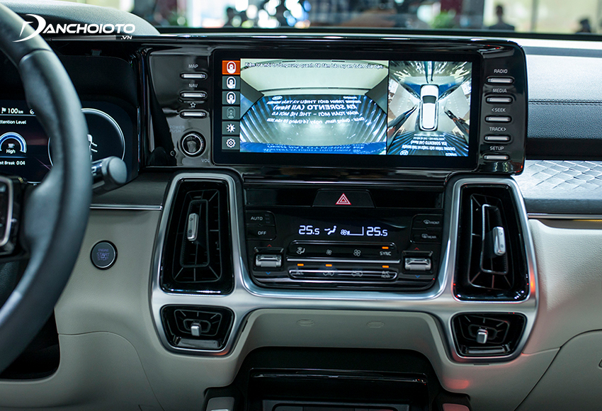 Chất lượng camera 360 độ trên Kia Sorento 2020 – 2021 được đánh giá cao