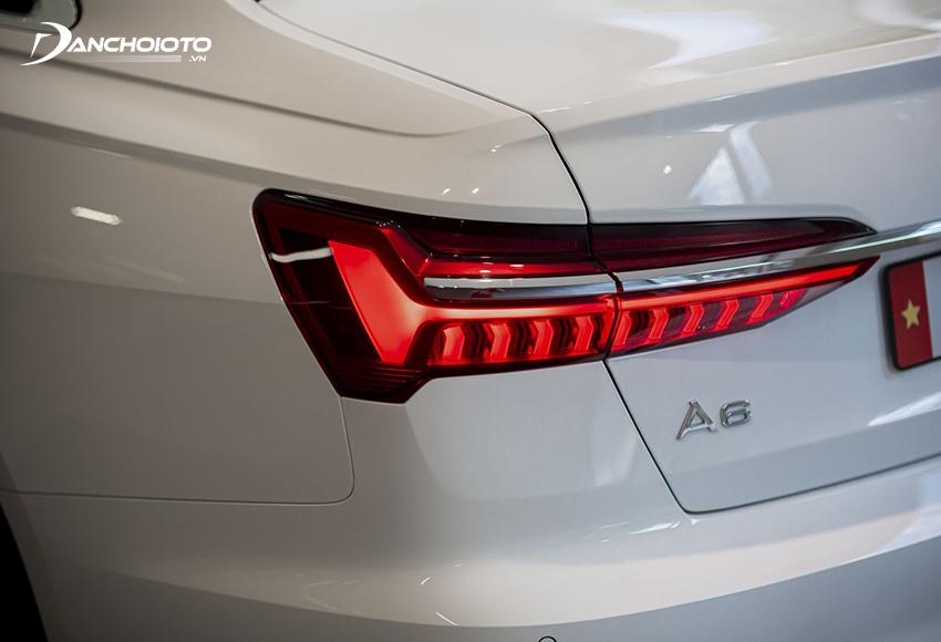 Cụm đèn hậu mới trên Audi A6 2020 nổi bật với tạo hình cùng phong cách cụm đèn trước