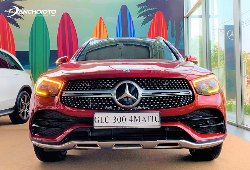 Đầu xe Mercedes GLC 300 2020 ấn tượng với lưới tản nhiệt kim cương hoàn toàn mới