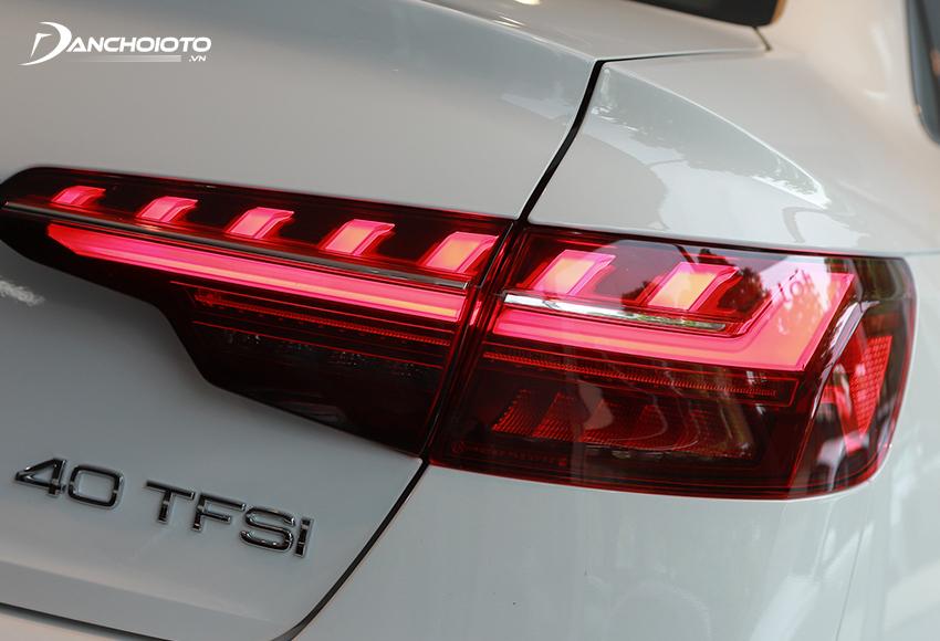Đèn hậu LED Audi A4 2020 đổi mới thanh mảnh hơn, đồ hoạ khối bắt mắt