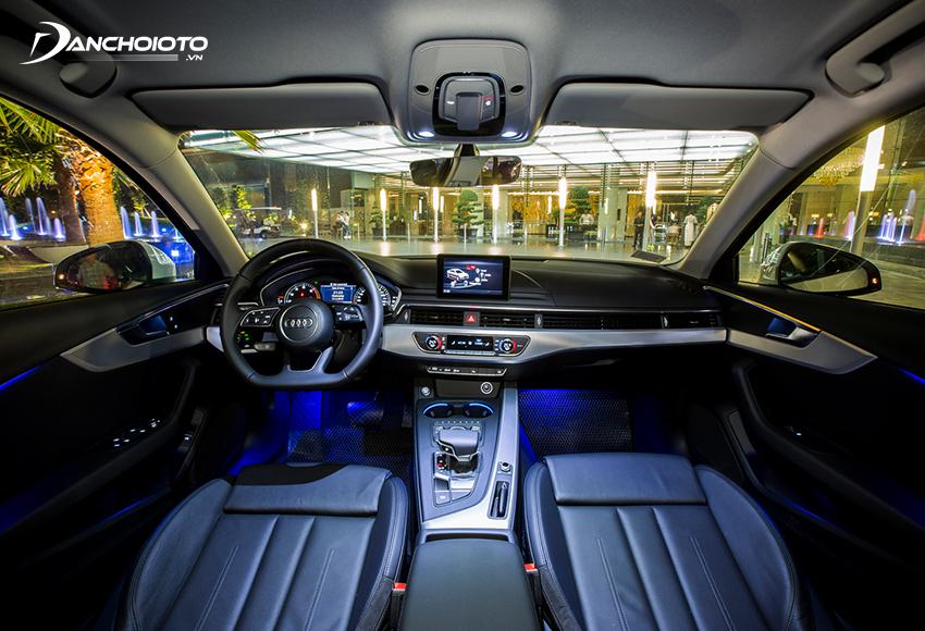 Đèn viền nội thất Audi A4 2020 nằm trong gói tuỳ chọn nâng cao