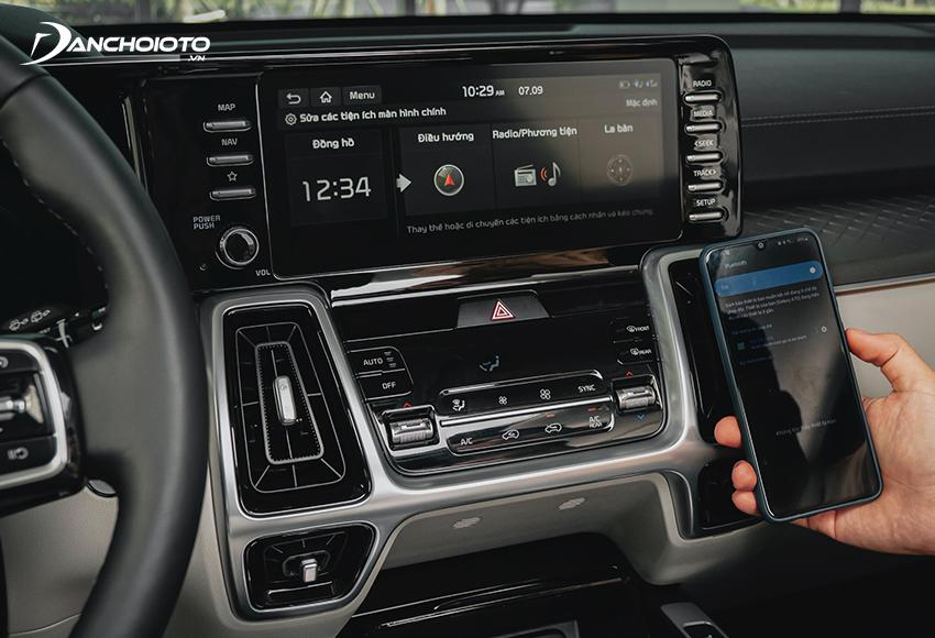 Kia Sorento 2020 – 2021 đều trang bị màn hình cảm ứng trung tâm 10.25 inch