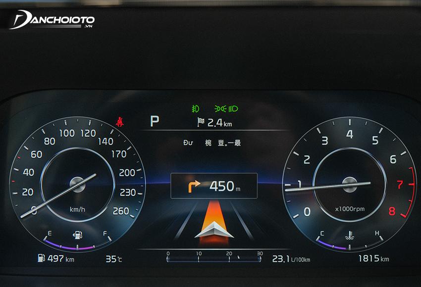 Kia Sorento Premium và Signature 2020 – 2021 được trang bị màn hình 12.3 inch