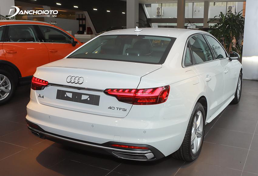 Những đường nét thiết kế đuôi xe Audi A4 2020 được tinh chỉnh hiện đại hơn